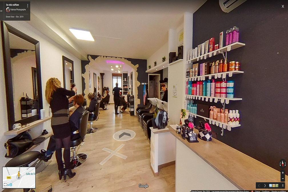 Photo d'un salon de coiffure